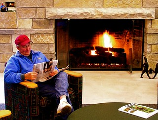 Inside by the Fire | by Lester Public Library