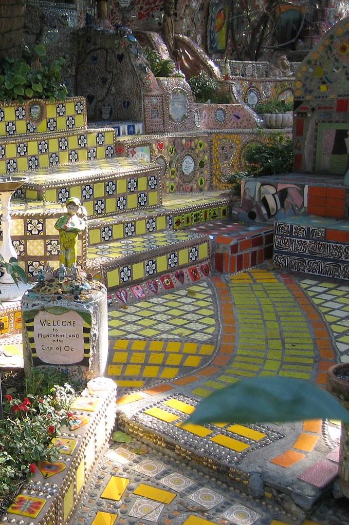 Garden of Oz Mosaic Wonderland Amazing private mosaic ga Flickr