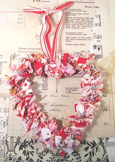Valentine's Day vintage fabric scrap heart | by holiday_jenny