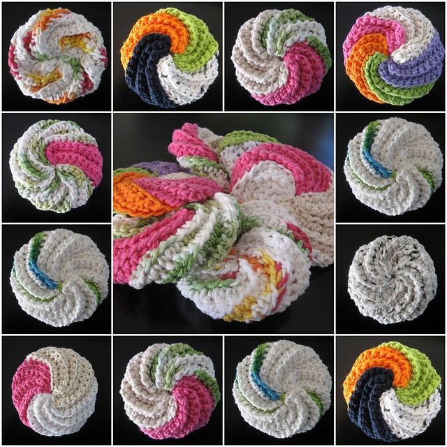 Spiral Scrubbie Mosaic Blogged About Here Thekidneybeanw Flickr