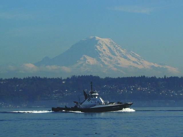 Rainier and Boat
