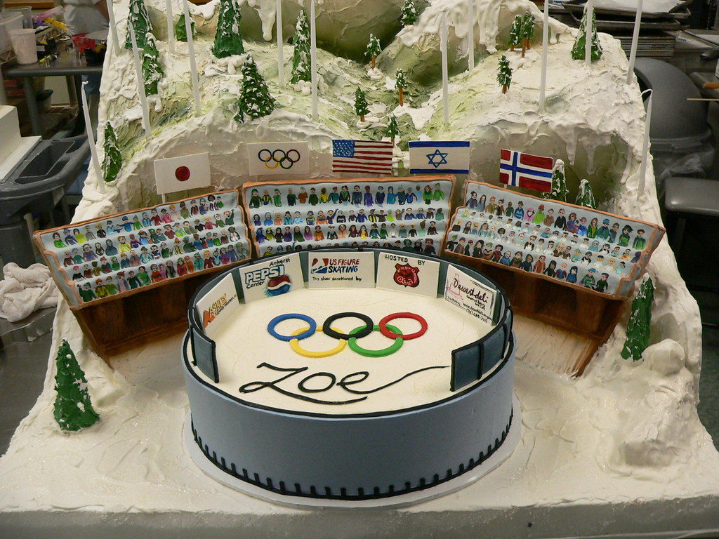 Winter Olympic Themed Birthday Cake What A Fun Project It Flickr