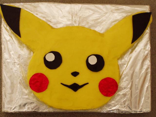 Pikachu Birthday Cake Card