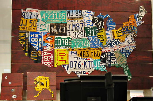 Us Map Made Out Of License Plates.Map Of The Us Made Out Of License Plates Birdies100 Flickr