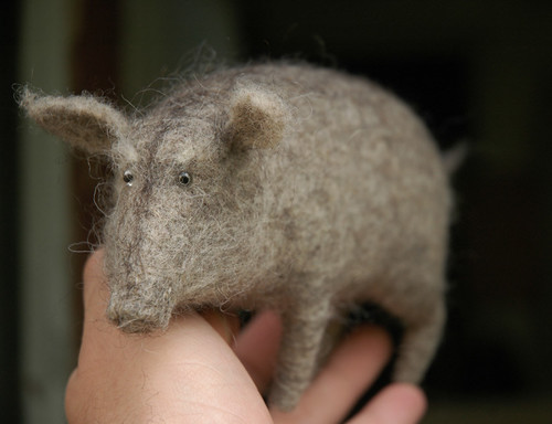 old needle felted boar | by vriad_lee
