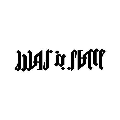 war is peace rotational ambigram finally i 39 m done with flickr. Black Bedroom Furniture Sets. Home Design Ideas