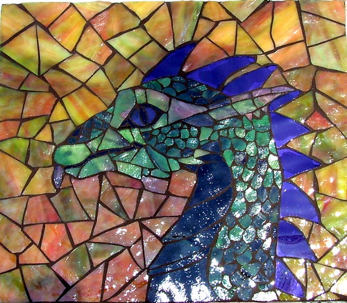 D Stained Glass Dragon Patterns