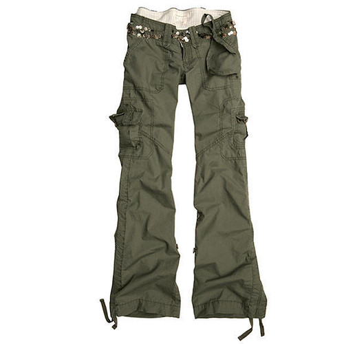 Women A&F Cargo Pants - Olive | Price : SGD$25.00 Size Avail… | Flickr
