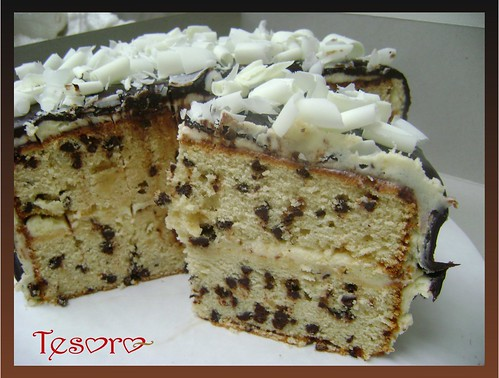 Chocolate Chip Cake Slice Chocolate Chip Cake Filled