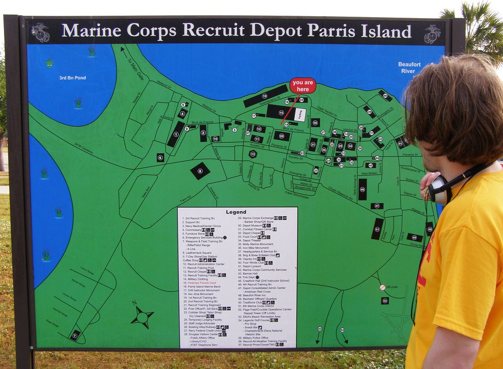 PARRIS ISLAND Map Of Parris Island Baltic Mostly Off Flickr - Parris map
