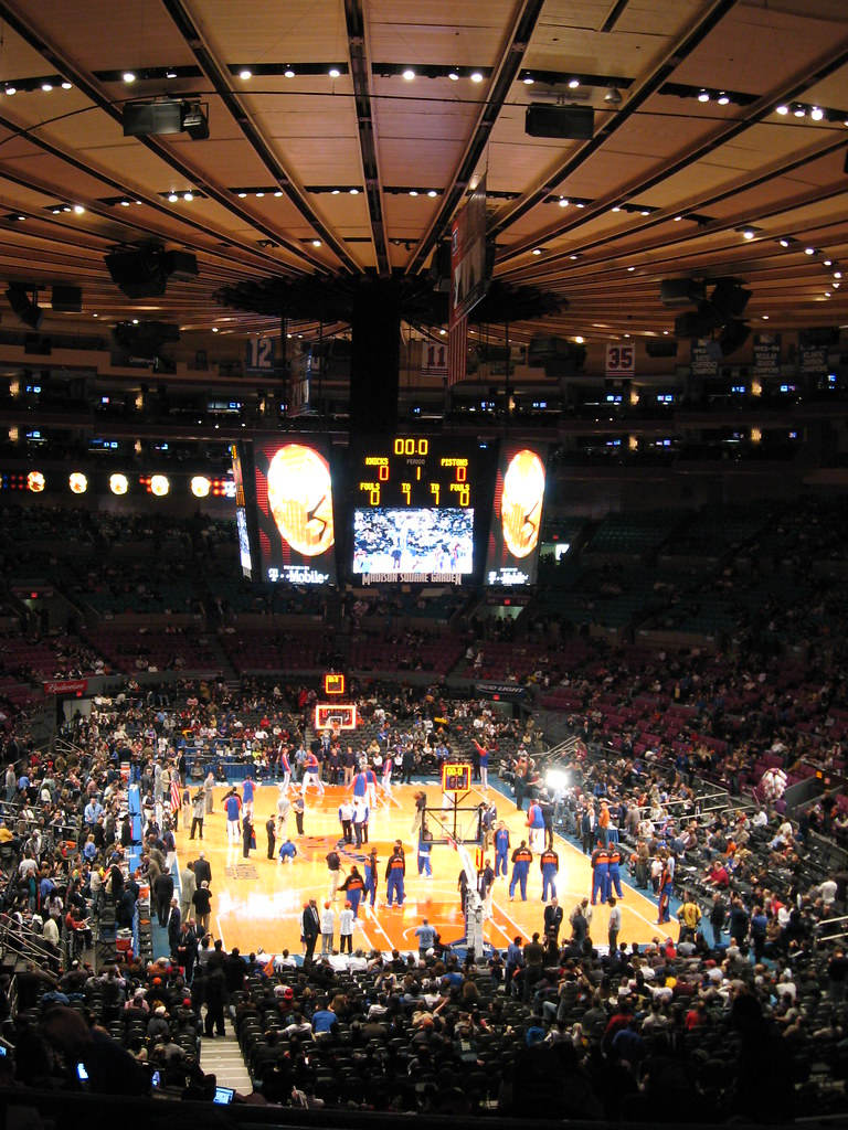 Madison square garden overview for basketball we were sect flickr Madison square garden basketball