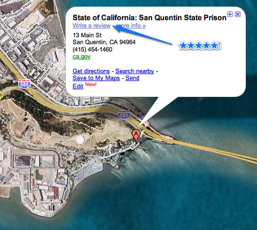 San Quentin State Prison Google Maps Uploaded With