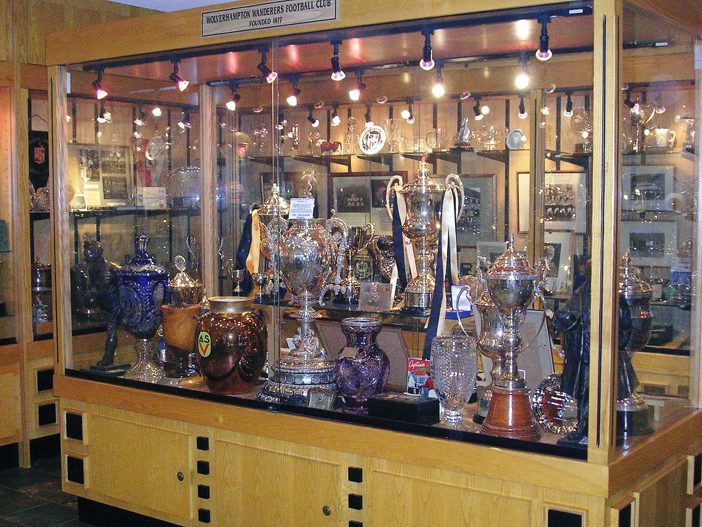 The Wolves Trophy Cabinet | The glistening Wolverhampton Wan… | Flickr