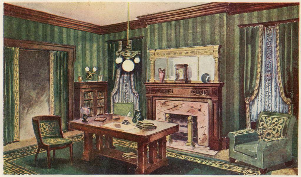 A Living Room In The Style Of The Greek Revival Illustrati Flickr