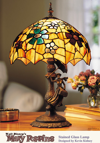 Mary Poppins Stained Glass Lamp 40th Anniversary