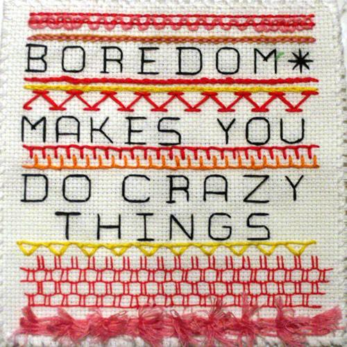 Sampler:  Boredom | by miscellaneaarts