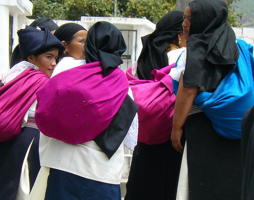 Indigenous ladies leave cemetery | by ecuadorliving