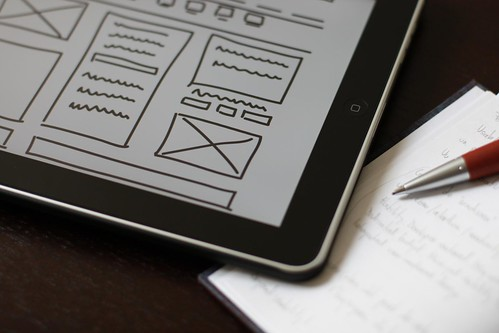 wireframe, ipad, pencil & notebook | by baldiri