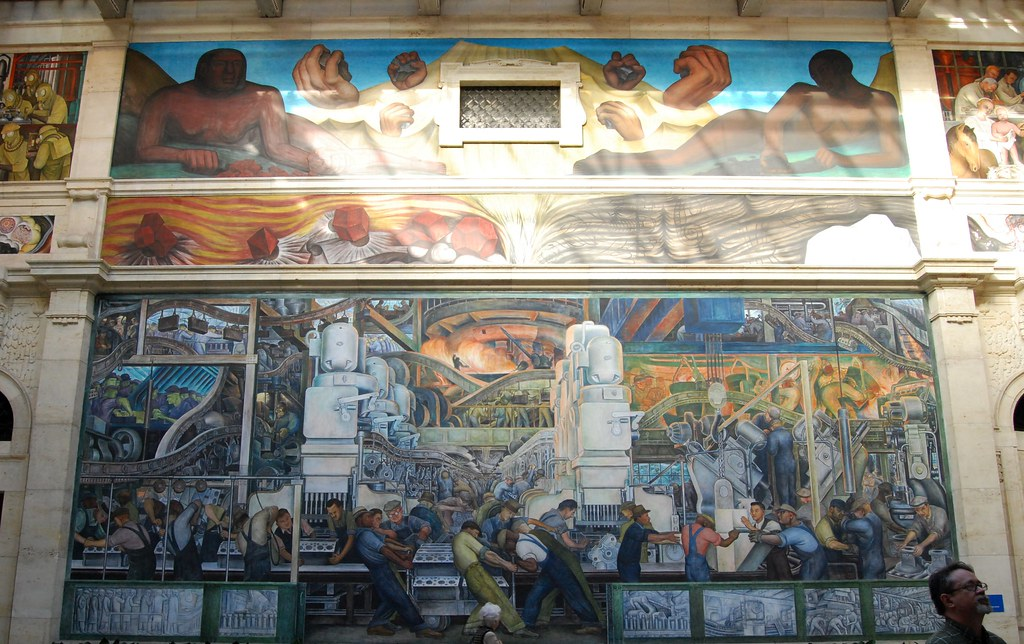 Diego rivera mural detroit industry 1932 1933 from for Detroit rivera mural