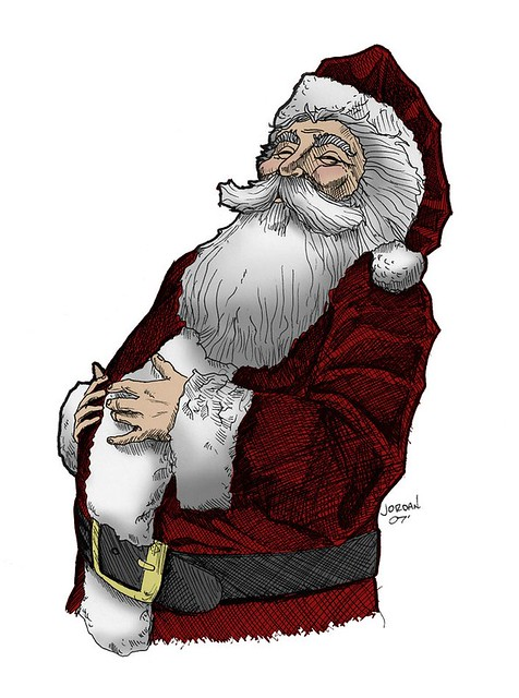 santa drawing colored by benrjordan santa drawing colored by benrjordan