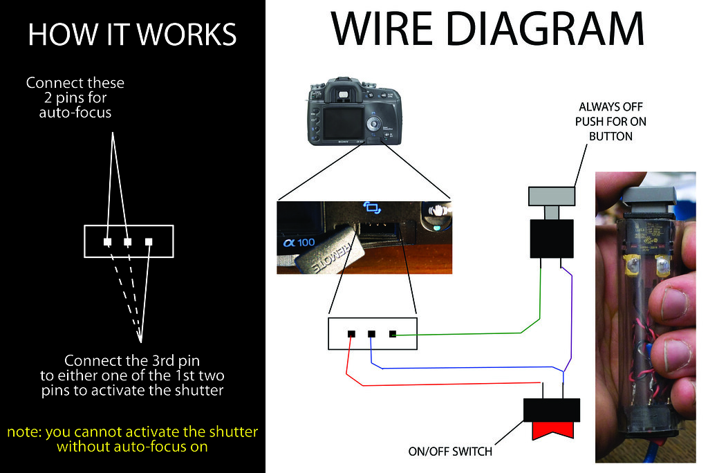 diy homemade sony alpha wired remote wire diagram diy home flickr 1974 911  porsche wiring-