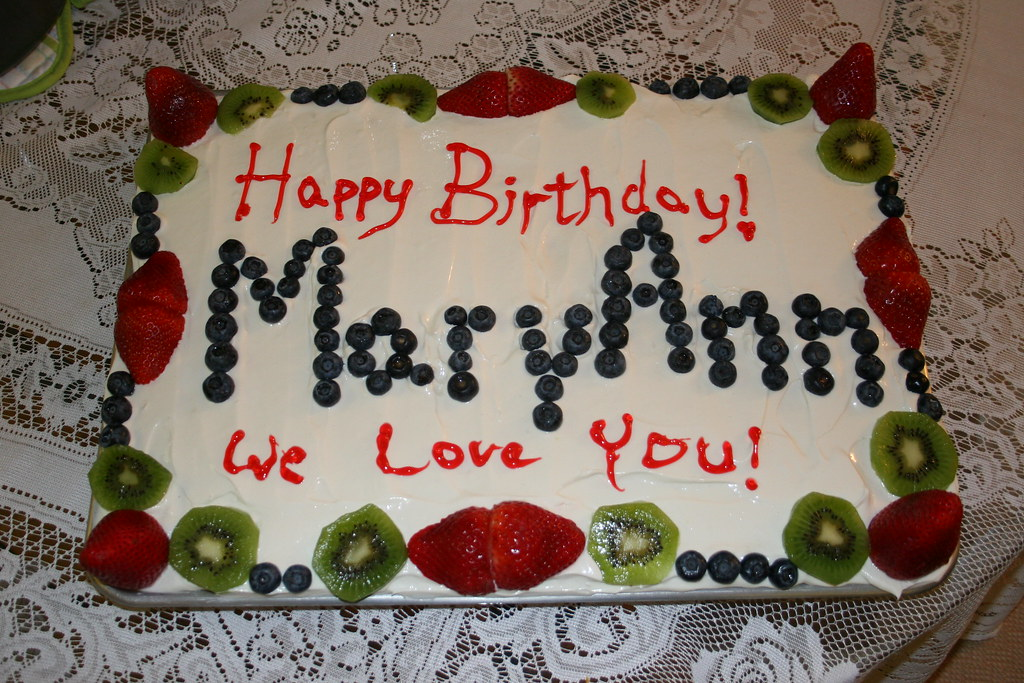 Happy Birthday Maryann Cake