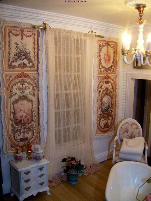 Salle de bains rideaux et panneaux explore bthierus - Panneaux pvc salle de bain ...