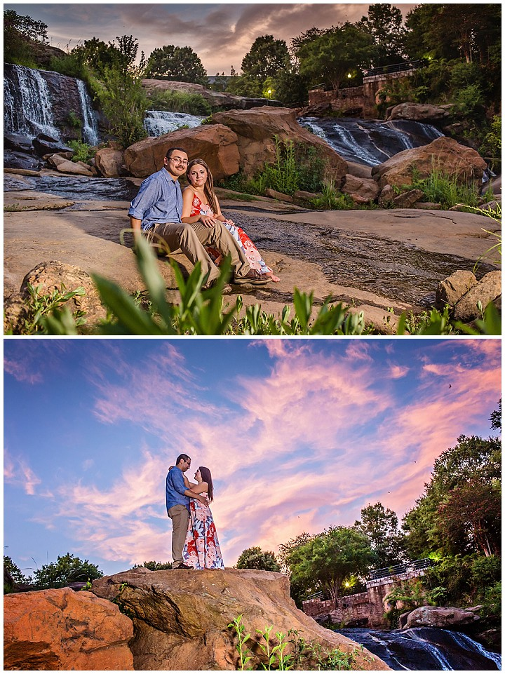 Engagement photos falls park
