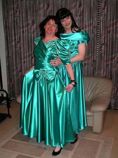satin ladies acres of shiny green satin paula