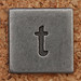 Pewter Lowercase Letter t