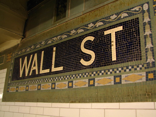 Wall Street subway mosaic | by epicharmus
