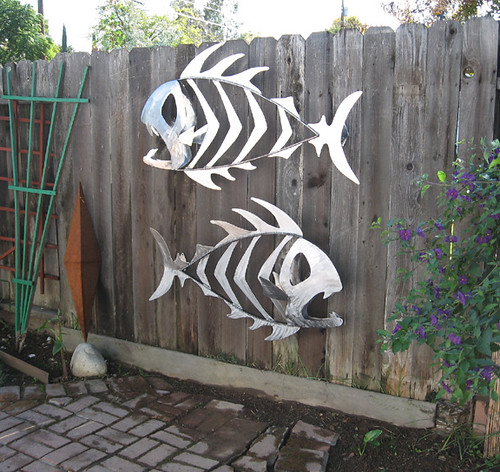 Metal Outdoor Fish Sculptures Sactoslacker Flickr