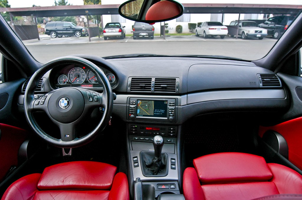 2002 Bmw M3 With Imola Red Interior Shot With The D70 Le Flickr