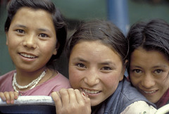 Portrait of three young women. India | by World Bank Photo Collection
