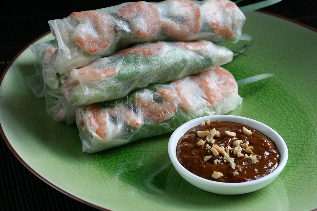 Vietnamese Salad Rolls with Peanut Hoisin Dipping Sauce | Flickr