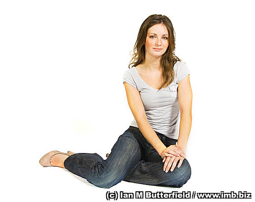 portrait of a woman with brown hair sitting on the floor flickr. Black Bedroom Furniture Sets. Home Design Ideas
