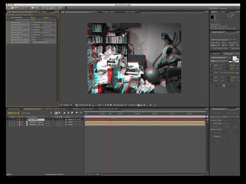 After effects anaglyphic 3d video first test of using for Habitacion 3d after effects