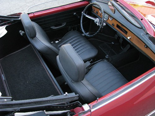 1969 Vw Karmann Ghia Convertible Interior Left Coast