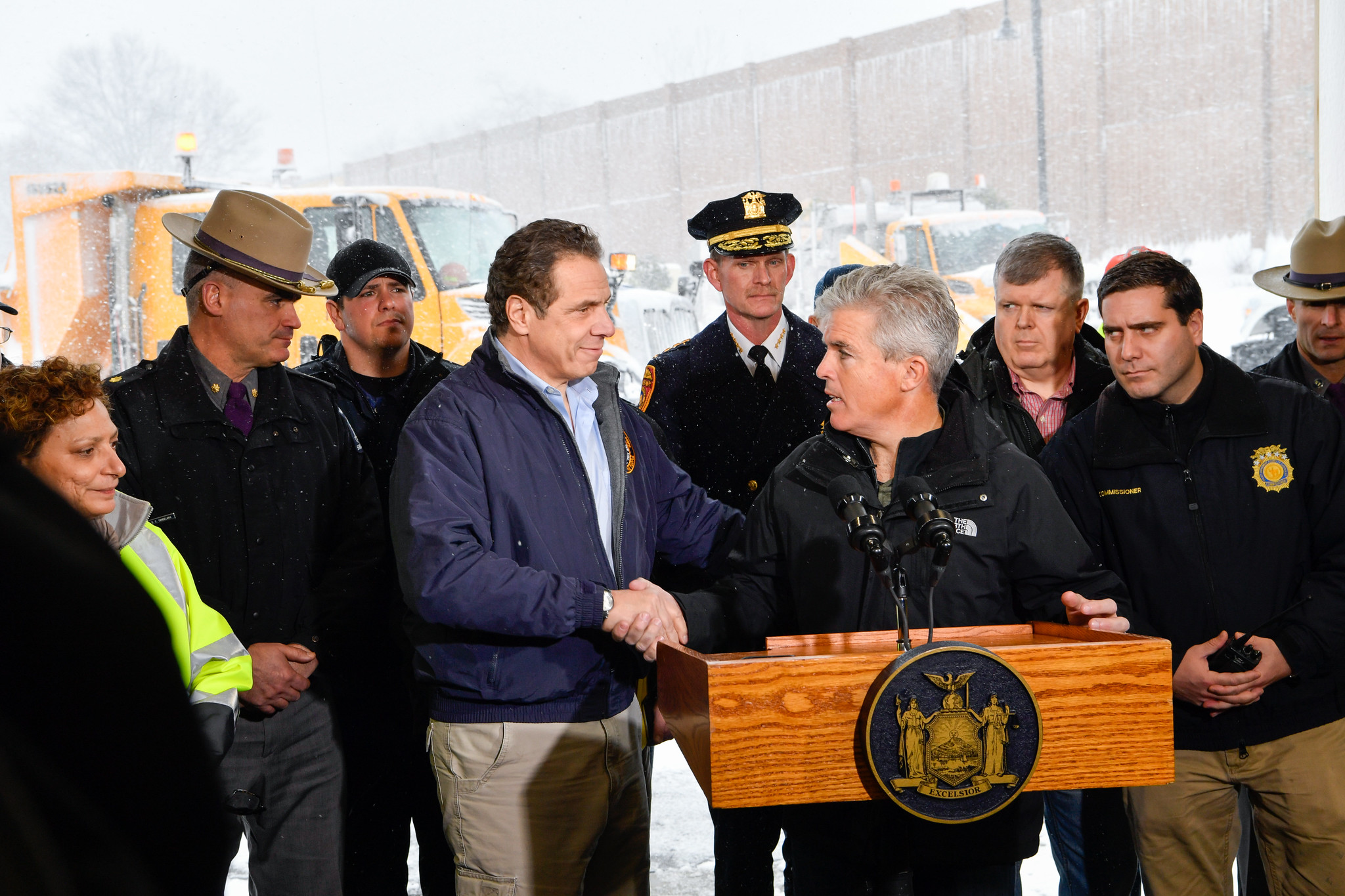 Governor Cuomo and State and Local Officials Hold Storm Briefing at Long Island Emergency Response Center