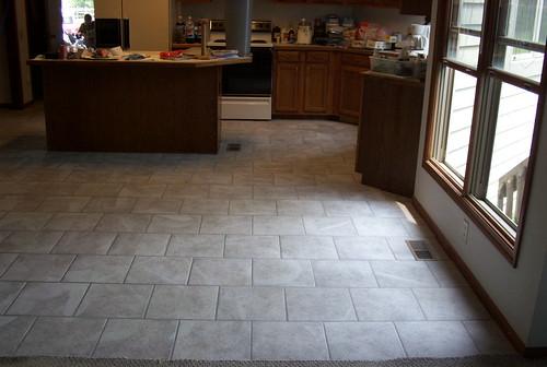 Brick Floor Patterns : Brick layed kitchen floor simple running bond pattern