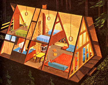 A frame house from the 1960s a frame house from potlatch for Modified a frame cabin