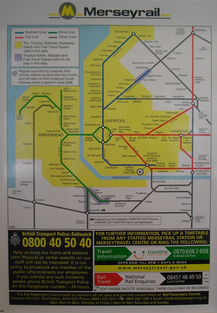 Map of the Merseyrail System Liverpool and Merseyside En Flickr