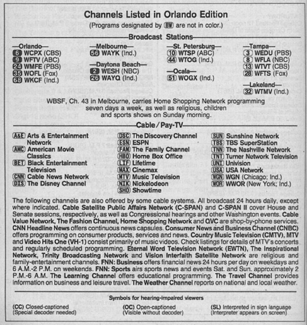 Orlando >> Orlando Edition (November 17, 1989) | From my TV Guide colle… | Flickr