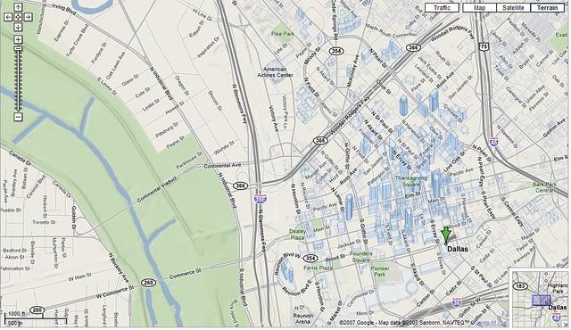 Google Maps Dallas Terrain | Screengrab for my blog article … | Flickr