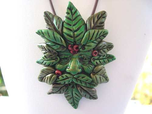 Green Man Pendant | by juliespace