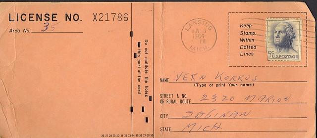 1964 michigan resident anterless deer hunting license for Fishing license app