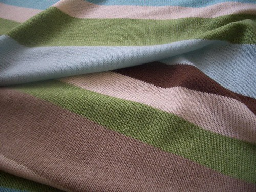 Stripe Pram Blanket | by knittingbringspurejoy