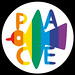 Rainbow peace button - spilletta della pace