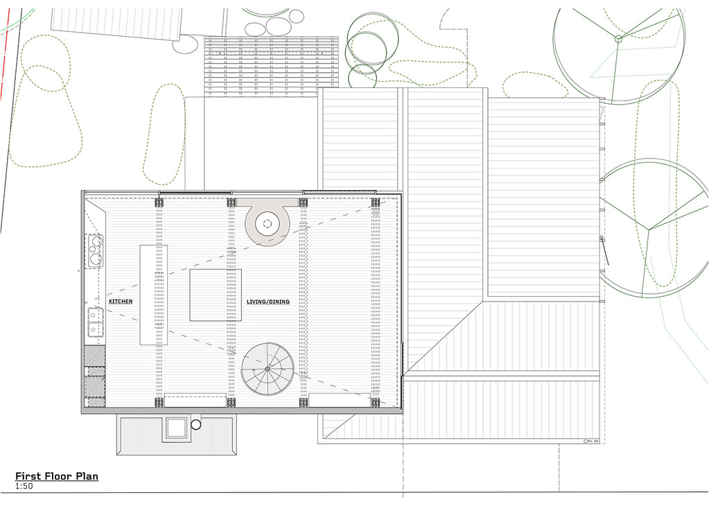 House on stilts design by Austin Maynard Architects in Australia Sundeno_20