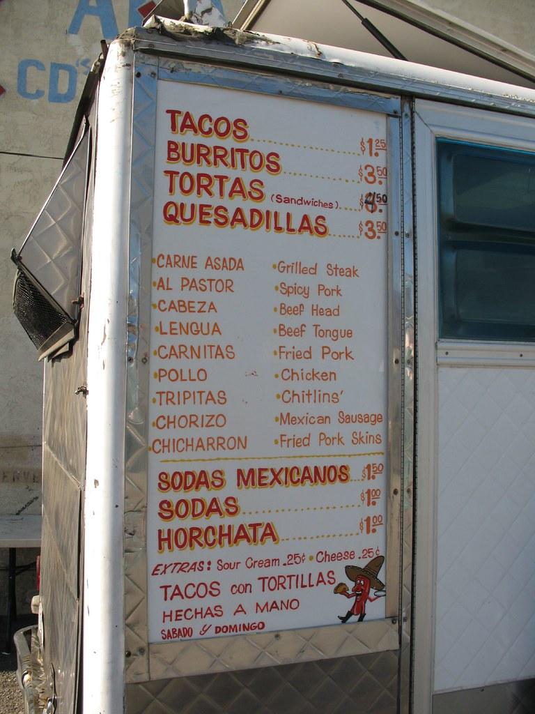 Taco Truck Menu Fruitvale
